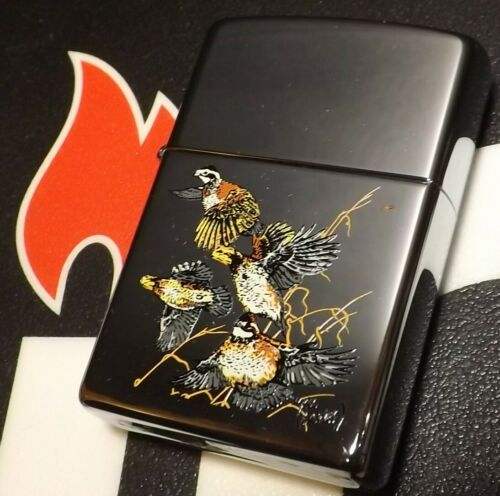 """Zippo Al Agnew """" Quail """" Very Hard to Find 1996 Org Box Flint & Seal Removed"""