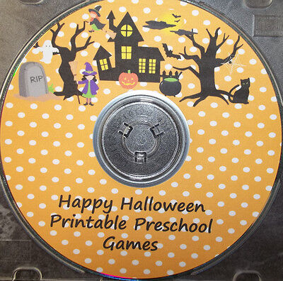 Halloween themed preschool printable games.  Learn basic math skills, memory mat