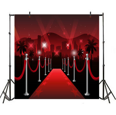 6x6ft Prop Red Carpet Rope Barrier Light Backdrop Studio Photo Vinyl - Red Carpet Ropes