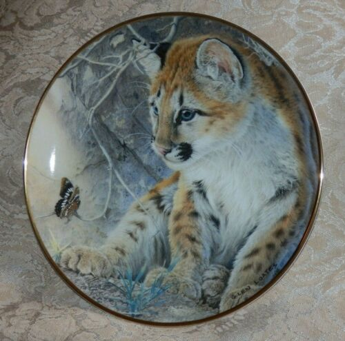 FRANKLIN MINT First Encounter TIGER CUB Collector Plate Glen Coates