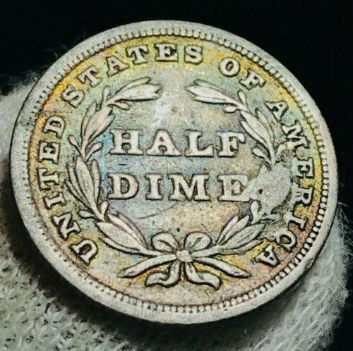 1838 Seated Liberty Half Dime 5C High Grade XF Stars Good US Silver Coin CC2294