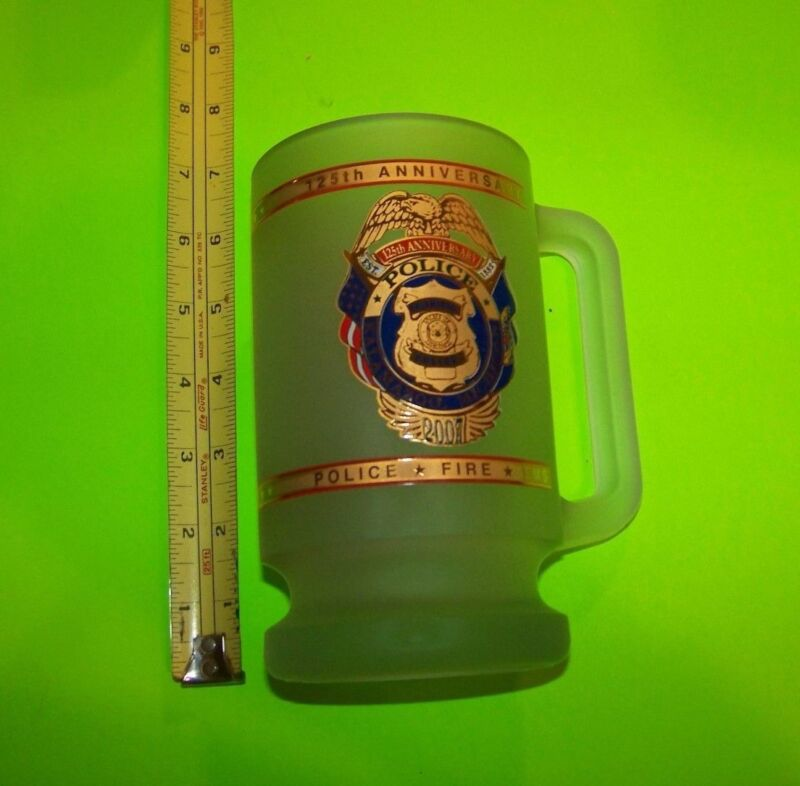 Kalamazoo Michigan Police 125th Anniversary Mug / Stein 2007 (Heavy Glass)