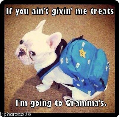 Funny Dog Humor French Bulldog Gonna Go To Gramma's Refrigerator Magnet