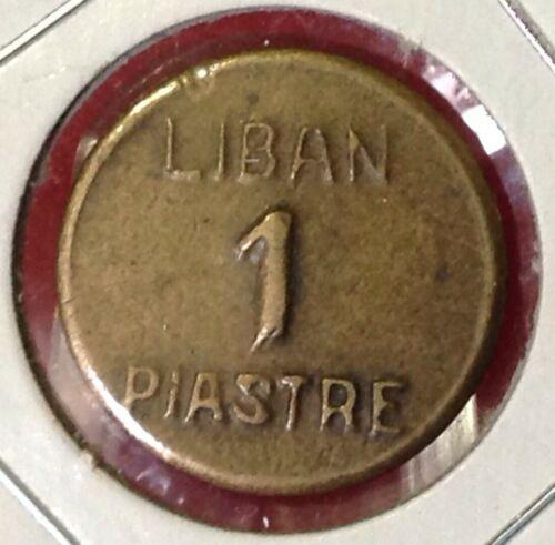 Lebanon 1 Piastre 1941 WW2 Emergency Coinage.لبنان