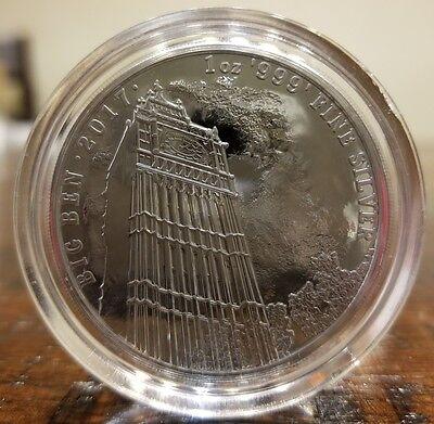 Big Ben Landmark Of Britain 2017 1 Oz  9999 Silver Coin 2 Pound Brexit Britannia