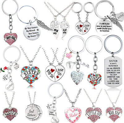 Personalised Birthday Gifts for Her Sister Girls Keychain Pendant Necklace Xmas  ()