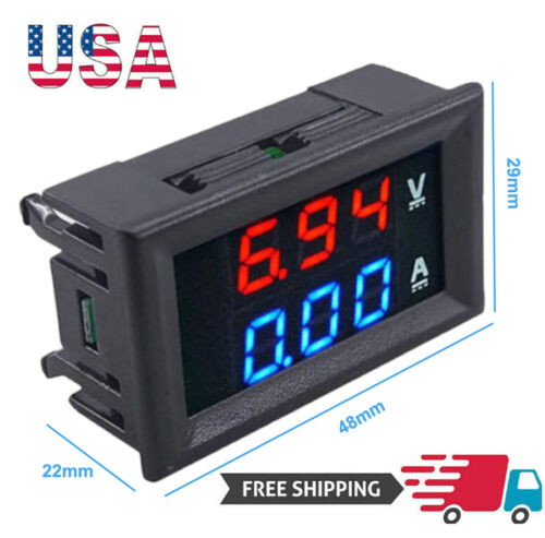Mini DC 100V 10A Digital Voltmeter Ammeter Car LED Display Panel Amp Volt Tester Business & Industrial