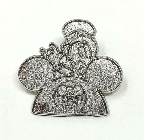 DISNEY TRADING PIN -  JIMINY CRICKET ON TOP OF MICKEY MOUSE EAR HAT - CHASER PIN