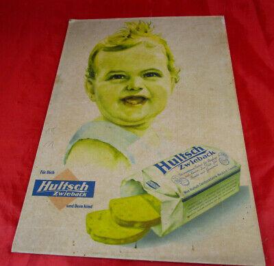 Reklame Werbung Hultsch Zwieback Baby Kind Neukirch Lausitz  29 x 20,5 cm