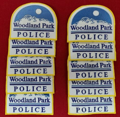 WOODLAND PARK COLORADO CO Trade Stock 10 police patches POLICE PATCH