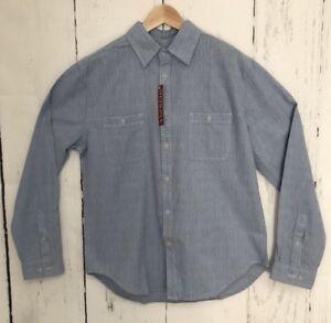 73010f070662d Mens Merona Long Sleeve Button Up Casual Shirt Cloud Blue Size Large L
