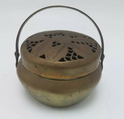 19th Century China Antique Metal Incense Burner and Hand Warmer