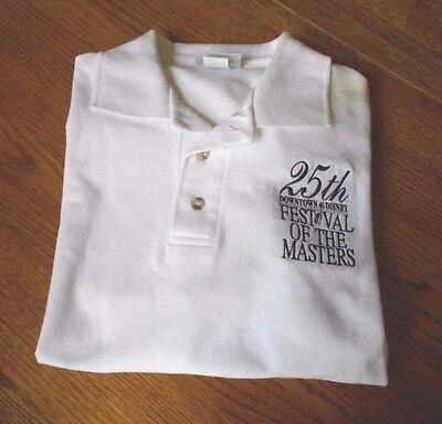 NEW 2000 WDW CM Festival of the Masters 25 Yrs Polo Shirt DOWNTOWN DISNEY Sz L