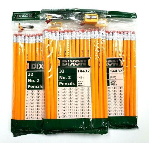 Pencils Dixon Homeschool 96 Count No. 2 Pencils 100% Real Wood with Sharpener