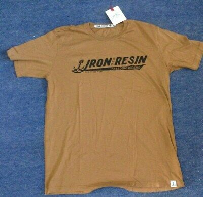 Iron and Resin Freedom Riders T Shirt Mid Brown Small