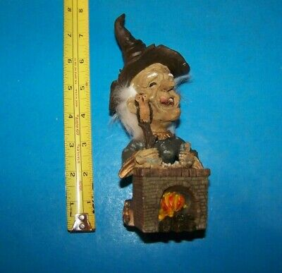 Halloween Witch Potions (Halloween Witch Making Potions on Fireplace Holding Owl
