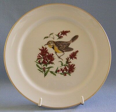 Pickard China Plate Yellow Breasted Bird Made In USA Hand Decorated 8.24""