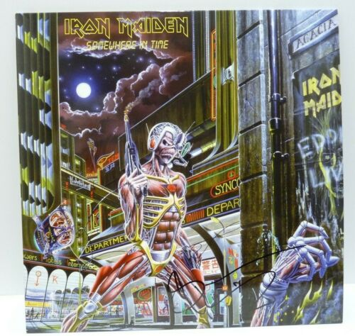 Bruce Dickinson Iron Maiden Somewhere In Time Autograph Signed LP BAS Certified