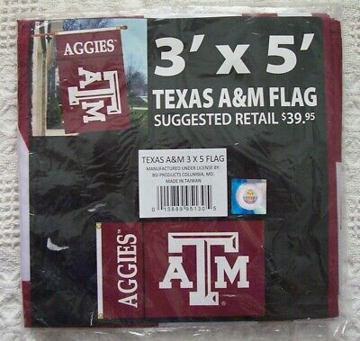 Bsi Products Ncaa Banner - BSI Products TEXAS A&M Aggies flag banner NCAA officially licensed BIG 3X5 NEW
