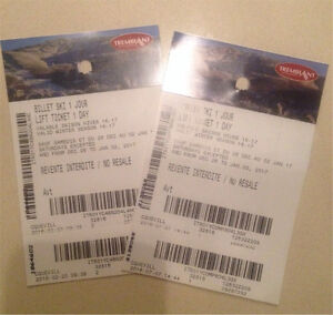 Tremblant billets ski tickets