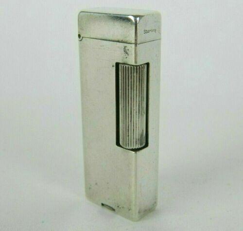 "Vintage Sterling Silver Alfred Dunhill Lighter Rollalite 925 Switzerland 2.5"""