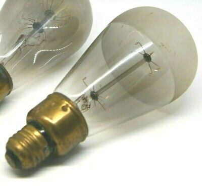 Antique Edison Tantalum Cage Filament Light Bulb Tipped Frosted 1904
