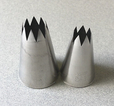 Jumbo Open Star Frosting Tip Set, Jumbo Round Icing Nozzles, Decorating Tips Open Star Tip