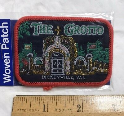 NIP The Grotto + Shrines Dickeyville Wisconsin WI Woven Souvenir Patch