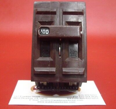 100a Main Breaker - 100 Amp Wadsworth 100A 240V  Double or 2 Pole  Main or Branch Circuit Breaker