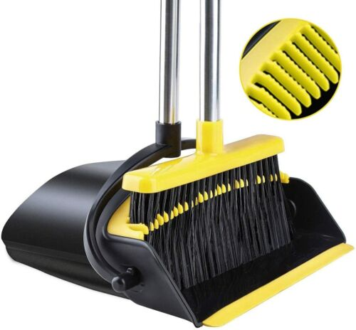Broom and Dustpan Tiumso Dust pan Broom Set with Upgrade Combo and Sturdiest Ext