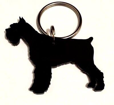 Handmade Schnauzer Dog Keyring/Lanyard/Keychain/Gift
