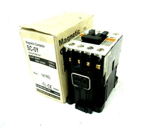 NEW FUJI ELECTRIC 4NC0F0B10Y CONTACTOR SC-0Y