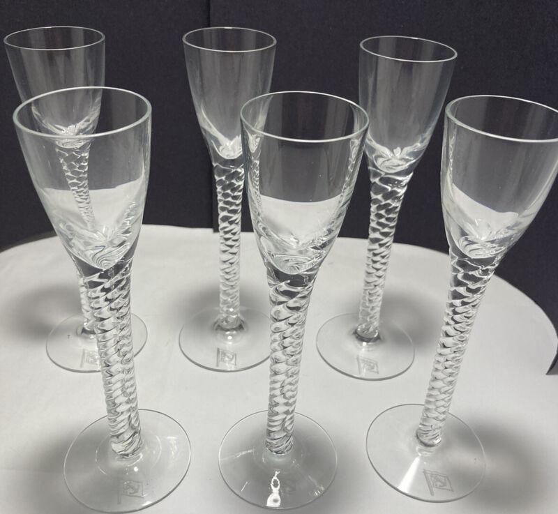 Holmegaard Denmark Amager Twist Schnapps Glasses East Asiatic -Set Of 6