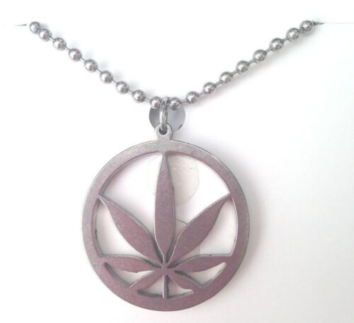 JEWELRY Pot Edition MARIJUANA Necklace Cannabis Leaf Weed MaryJane S.S. PENDANT