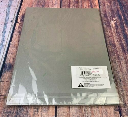 Shimmer Dark Silver Pewter 8.5x11 Cardstock Paper 96 Count