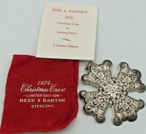 Reed & Barton 1974 Annual Christmas Cross, Sterling Silver, no box
