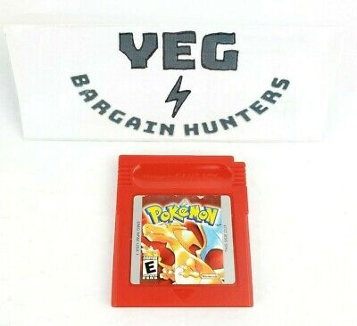 Pokemon Red Version (Nintendo Game Boy) Game Only Authentic Tested Canadian