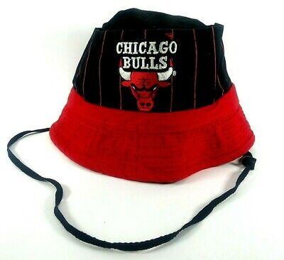 Vintage NBA Chicago Bulls Bucket Hat Sz S Basketball Jordan Pippen Rodman Title