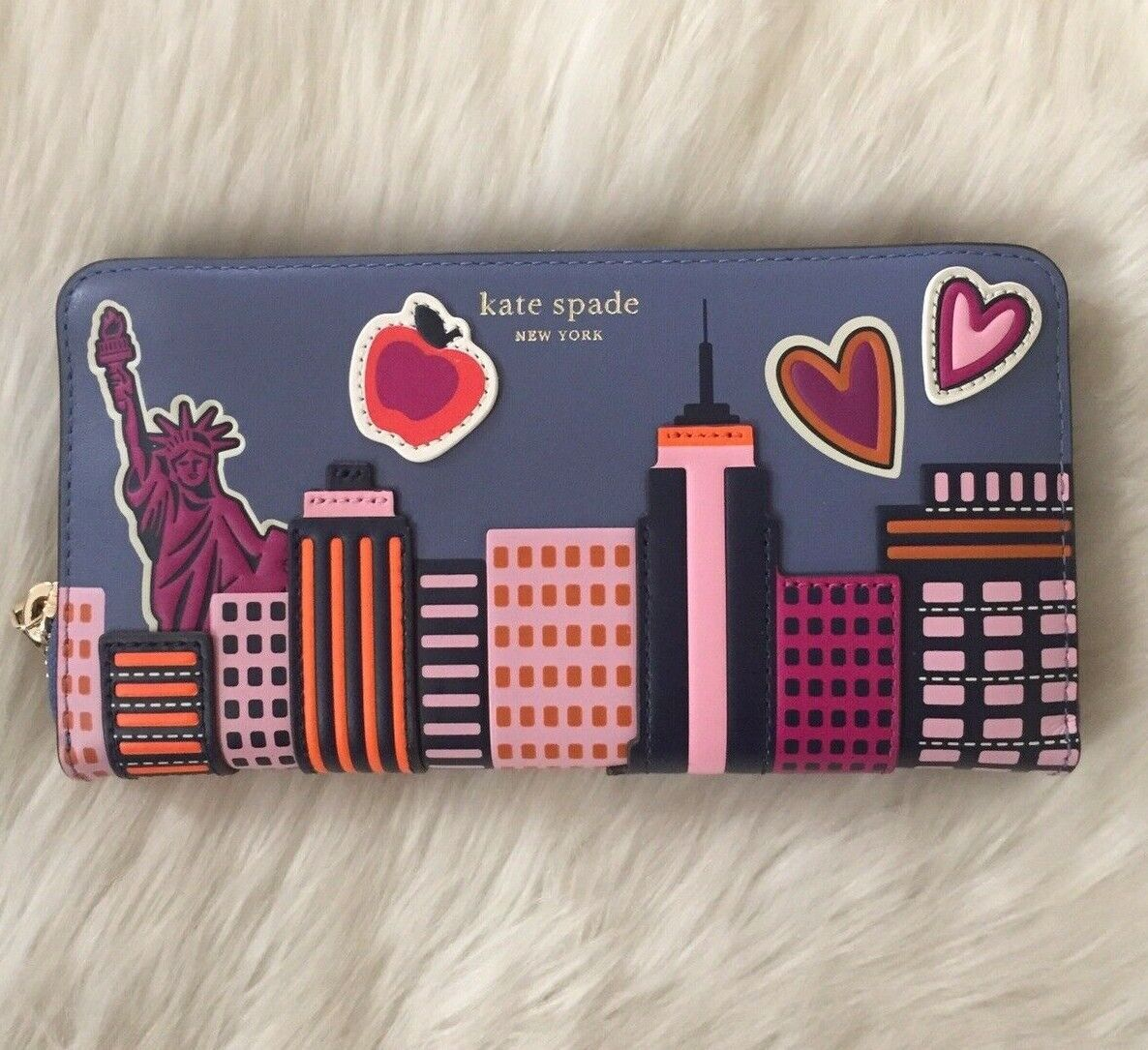 Kate Spade Scenic Route NYC Skyline Large Wallet Novelty - $189.99