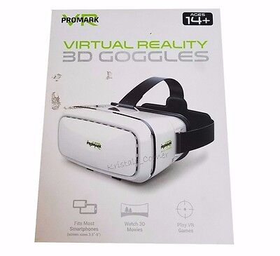 Promark VR Virtual Reality 3D Goggles Headset for iPhone & Android Smartphones