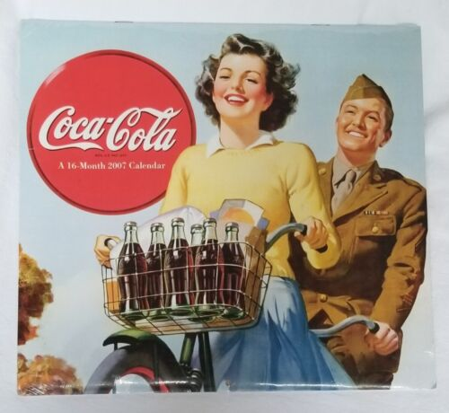 Coca-Cola 2007 16 Month Wall Calendar Factory Sealed