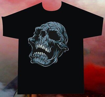 T-Shirt old skull tattoo style motiv skull totenschädel totenkopf (Biker Tattoos Kostüm)