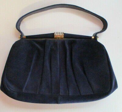 1950s Handbags, Purses, and Evening Bag Styles 1950s Vintage Calf Suede Clutch / Purse / Bag - Made by Cosmos Products NSW $37.41 AT vintagedancer.com