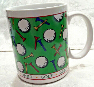 Golf Enthusiast Gift Mug Coffee Tea Cup by Papel Freelance with D shape handle