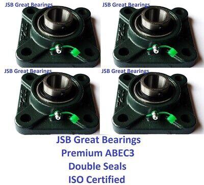 4 Premium Ucf205-16 Double Seals Abec3 Square Flange Bearings 1 Bore Ucf205-16