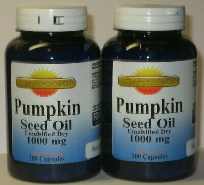 2 x  Pumpkin Seed Oil 1000 mg 400 Capsules Total -  Prostate Health