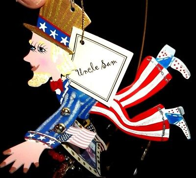 NEW Fanciful Flight UNCLE SAM PERFECT 4TH JULY INDEPENDENCE FRIEND GIFT Ornament - Fanciful Gifts