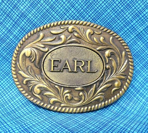 Vintage EARL Belt Buckle - 70s Name Buckle - The Kinney Co................TWY112