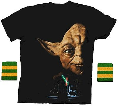 Adult Step Brothers Dale Star Wars Yoda Return of the Jedi Shirt & Wristband Set - Step Brothers Costume