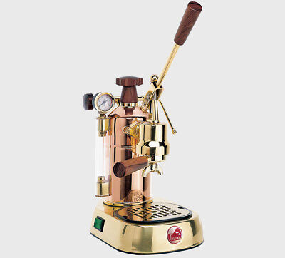 2018 La Pavoni Professional Prg Coppergold Plated Espresso Machine Italy
